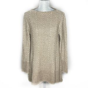 Eight Eight Eight Sweater Tunic Long Sleeve Tan
